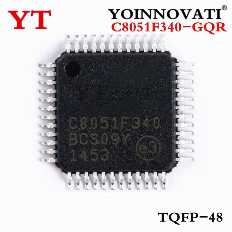 100 قطعة/الوحدة C8051F340-GQR C8051F340-GQ C8051F340 TQFP48 IC