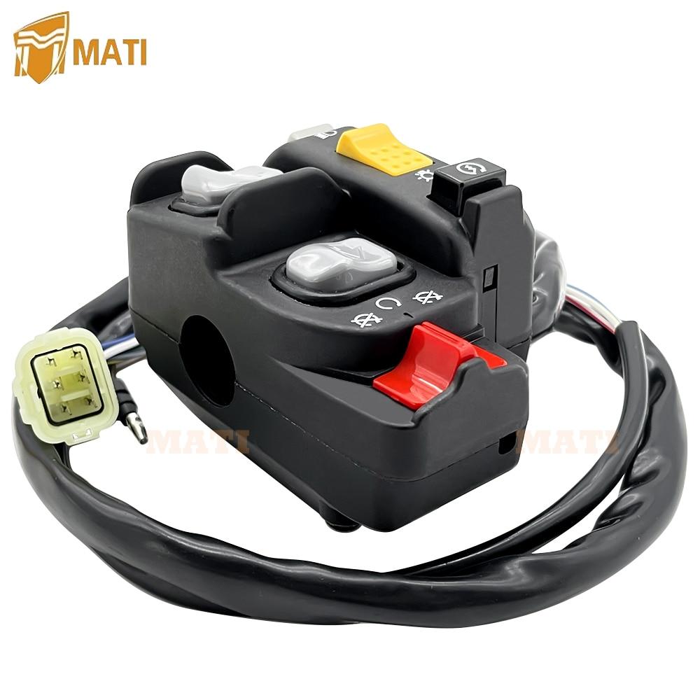 Left Handlebar Switch Electric Shift Start Stop Headlight for Honda TRX450 TRX450ES TRX450FE 1998-2004 35020-HN0-A11 enlarge
