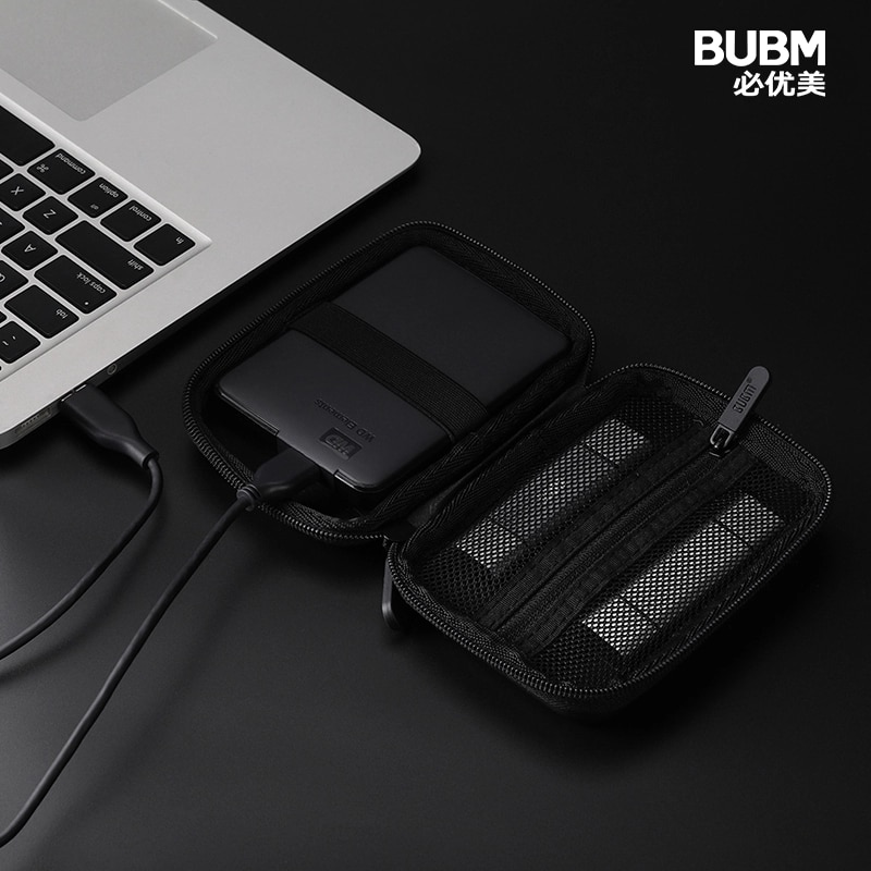 BUBM External Hard Drive Case Cover 2.5 Inch, Shockproof Travel Case for Western Digital Seagate Expansion Seagate Backup