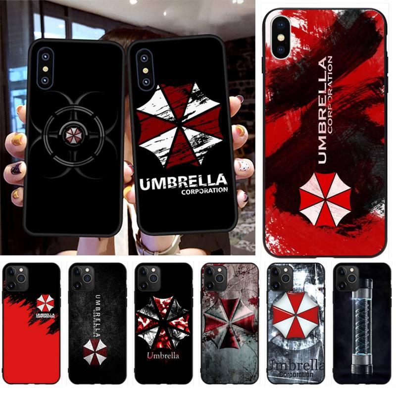 PENGHUWAN parapluie corporation Silicone souple noir étui de téléphone pour iPhone 11 pro XS MAX 8 7 6 6S Plus X 5S SE XR étui