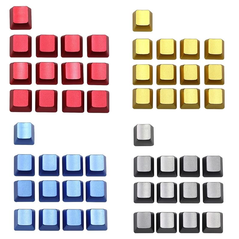 أغطية لوحة مفاتيح معدنية قابلة للاستبدال ، للوحة المفاتيح الميكانيكية ، ESC QWERASDF ، السهم ، العمود المتقاطع ، بدون كلمات