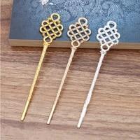 2pcs 139mm retro carved hair fork hair sticks hair pin mesh hairpins needle headwear jewelry findings diy accessories
