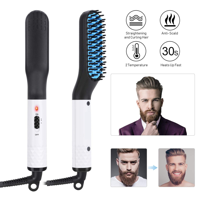 Professional Men Beard Straigtener Comb Electric Hairbrush Ceramic Hair Styling Tools Straight Heating Brush Smooth Iron Machine
