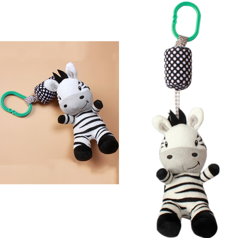 baby toys white rattles bracket set baby crib mobile bed bell toy holder arm bracket wind up music box drop shipping Baby Rattle Toys Cartoon Zebra Infant Mobile Cloth Toy Baby Trolley Bed Wind Chimes Rattles Bell Crib Hanging Bell Pacify Toys