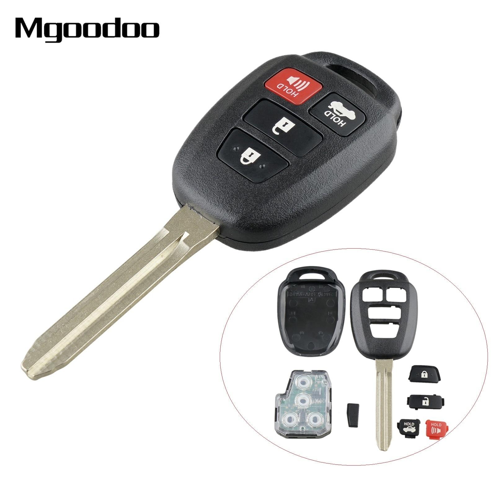 Mgoodoo 3 + 1 botón de mando a distancia de coche 315MHz para Toyota RAV4 Highlander W/ H Chip transpondedor FCCID GQ4-52T