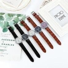 Men Watch Business Sport Watches Clock Quality Fashion Numerals Faux Leather Analog Quartz Gentleman
