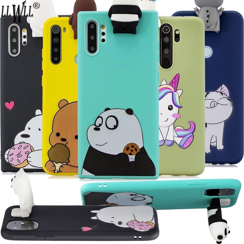 Funda con soporte de dibujos animados de juguetes 3D para Samsung Note 10 Note 10 Plus funda para teléfono con muñecas unicornios TPU para Galaxy Note 10 Plus