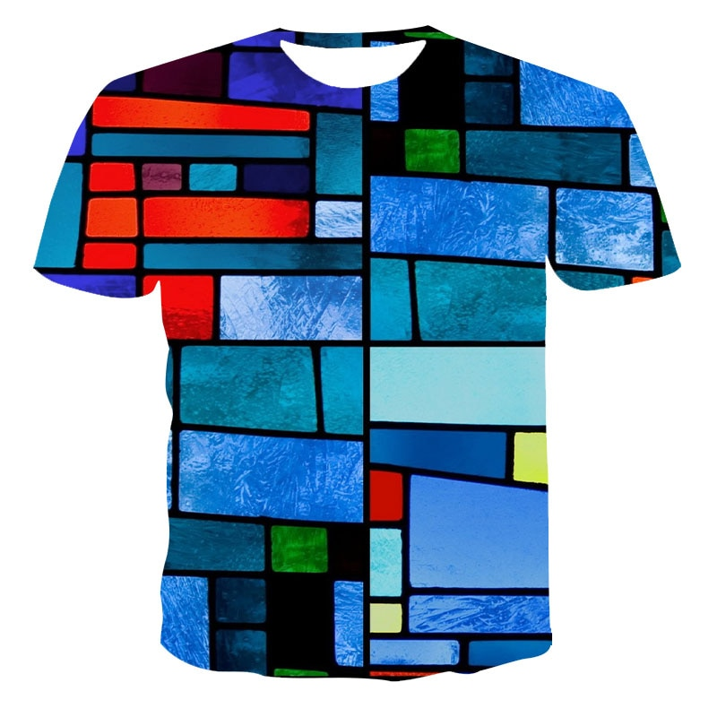 2021 T shirt Summer Leisure New Style 3D Printed Short Sleeves Male T-shirt Fashion Top Streetwear