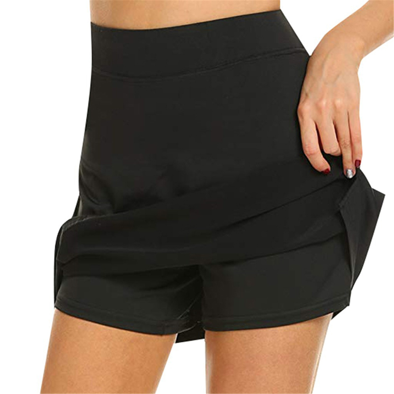 Newly Anti-Chafing Active Skorts Super Soft Comfortable Women's Athletic Lightweight Skirts With Shorts Pockets Running Tennis m