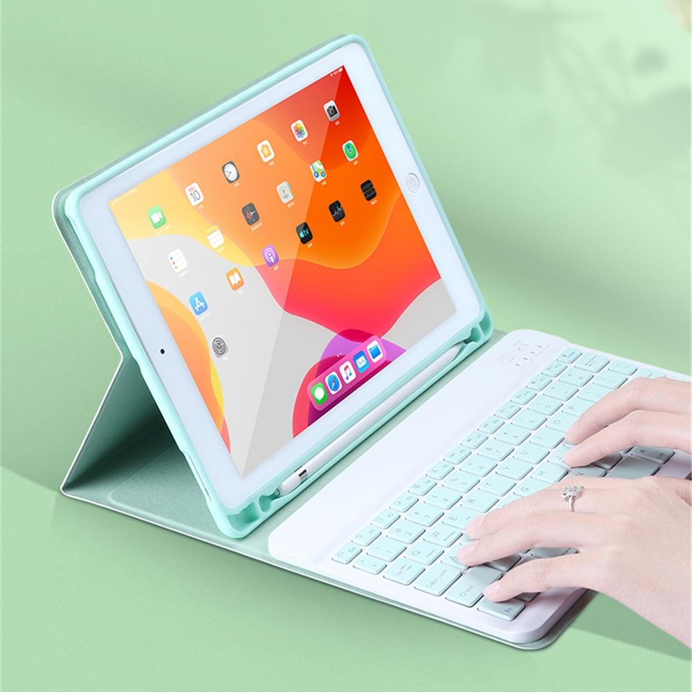 Para ipad mini 5 caso teclado ultra fino suporte caso para ipad ar 3 10.5 pro 9.7 10.5 11 2020 mini 7.9 2019 caso teclado Teclados    -