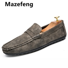 Spring Summer Mens Loafers Plus Size Lightweight Comfortable Flat Casual Shoes Men Breathable Slip o