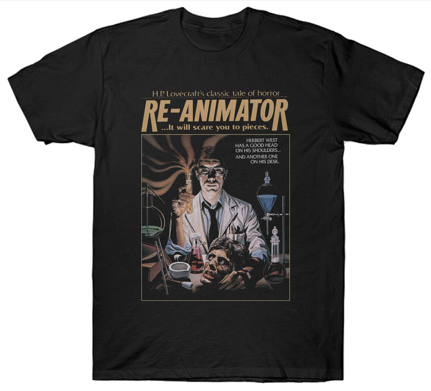 Re Animator футболка Фэнтези ужас 1970-е фильм Hp Lovecraft