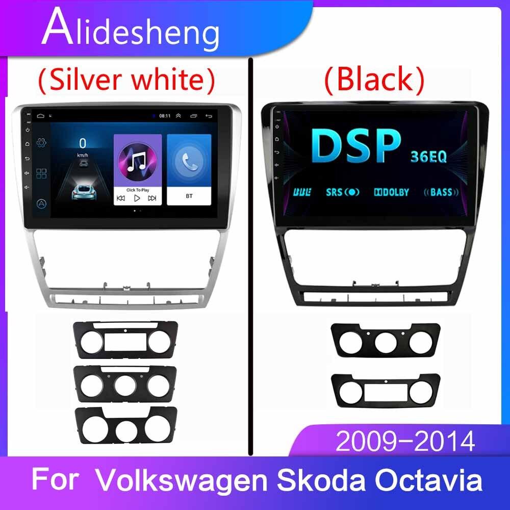 2 din Android 2.5D Quad Core reproductor de DVD de coche para Skoda Volkswagen Octavia GPS de Audio Radio de dirección de la rueda de coche multimedia player BT