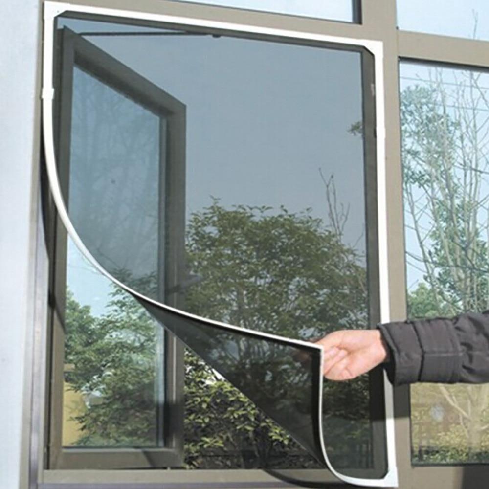 130x150cm Fly Moskito Fenster Net Mesh Bildschirm Cortinas Moskito Mesh Protector Fly Screen Inset Dropshipping
