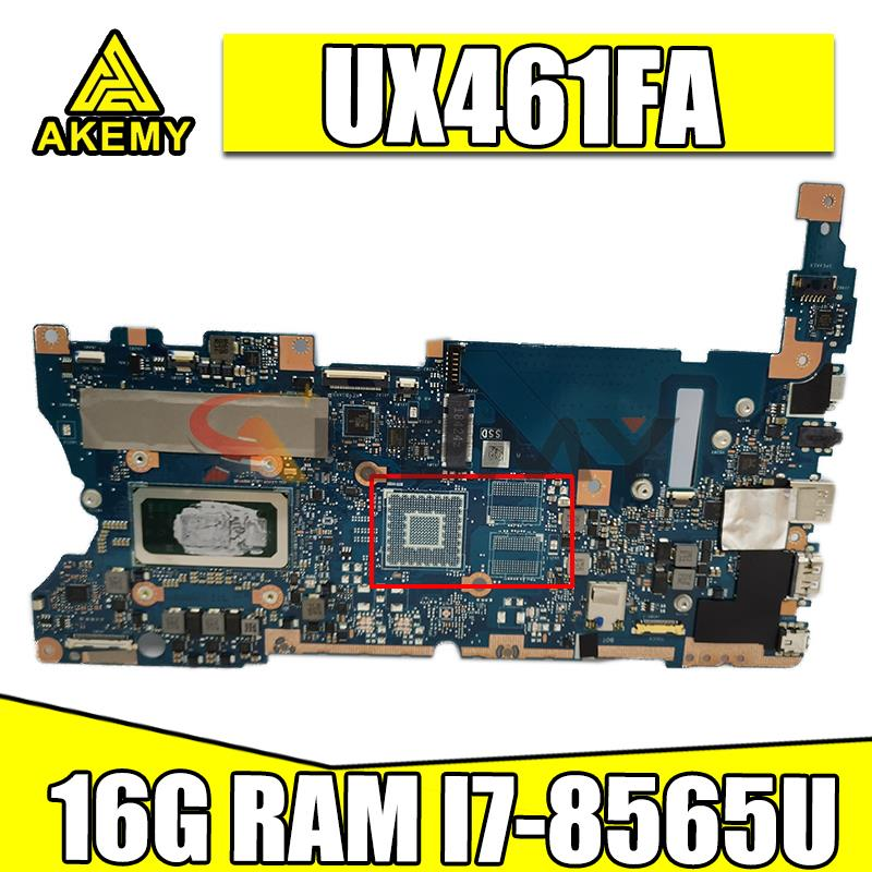 جديد Akemy UX461FA اللوحة الأم ث/I7-8565U + 16 جرام RAM ل ASUS UX461FN UX461F UX461 UX461FA اللوحة المحمول