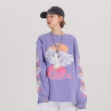 Lange Mouw Harajuku Kawaii Kleding Oversized Japanse Streetwear Cartoon T Shirt Vrouwen Leuke Kawaii Overhemd 2020 Kleding