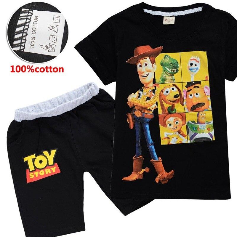 Niños juguete historia 4 niños ropa de Navidad Set Forky leñador figuras camiseta + Pantalones cortos niñas pequeñas niños andy Grinch ropa