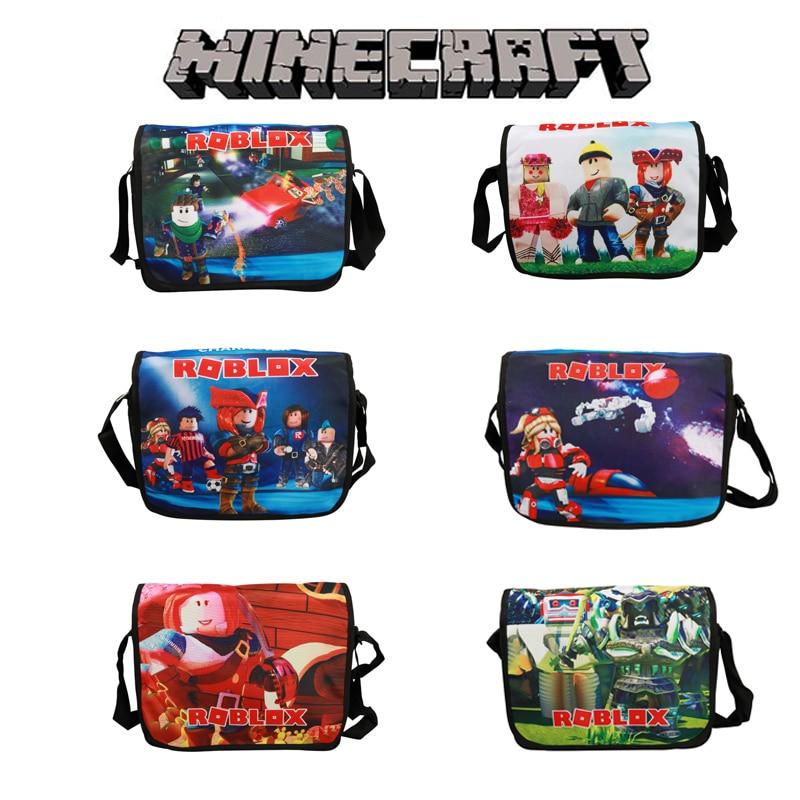 Bolso cruzado para hombre Minecrafts Robloxs, pequeño bolso de hombro Unisex para niño mi mundo, bolso de mensajero, bolso escolar, bolsos de viaje al aire libre