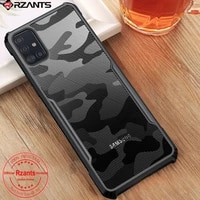 for samsung galaxy a71 4g case camouflage acrylic pctpu airbag shockproof armor back case for galaxy a71 anti knock rzants case