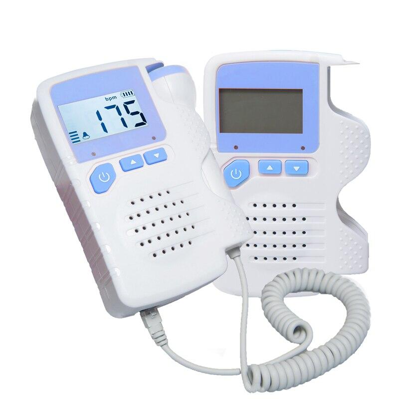 Фетальный допплер FD-200 + прибор для обнаружения сердечного ритма плода простой в использовании для дома FHR портативный ультразвуковой диагностический детский ЖК-экран