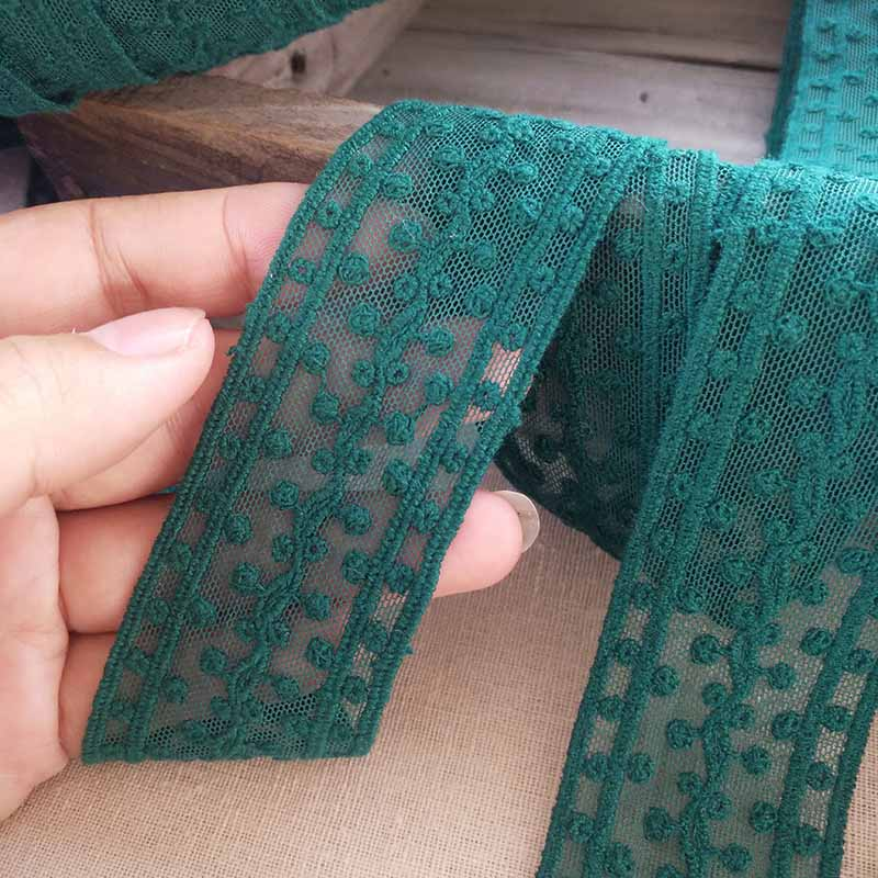 4cm 5 metros/lote lazo verde oscuro recorte de ropa borde DIY pelo moño-Nudo Material X654