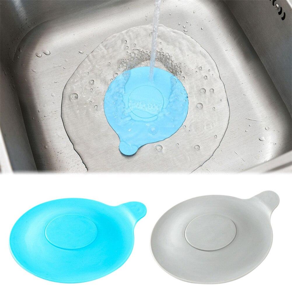 Home Bathtub Drain Stopper Silicone Bath Tub Drain Plug Cover Water-drop Design For Bathroom Laundry Kitchen Sink Fixture