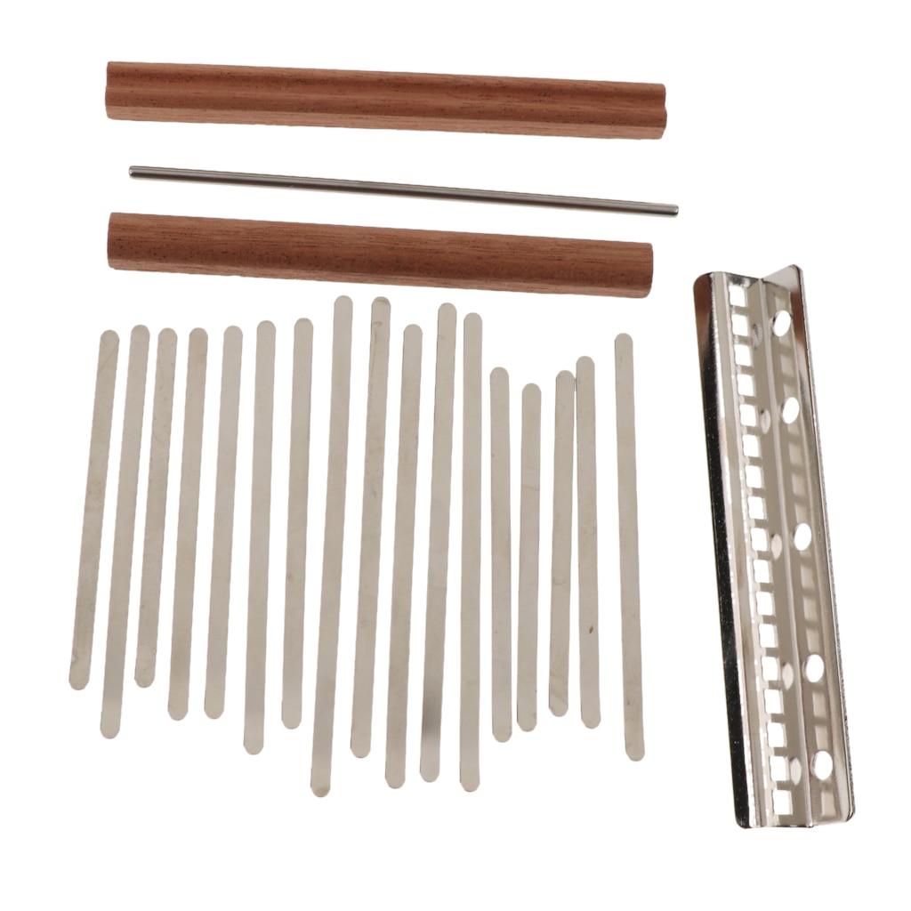 17 teclas Kalimba DIY accesorio pulgar Piano teclas puente para Luthier Handwork
