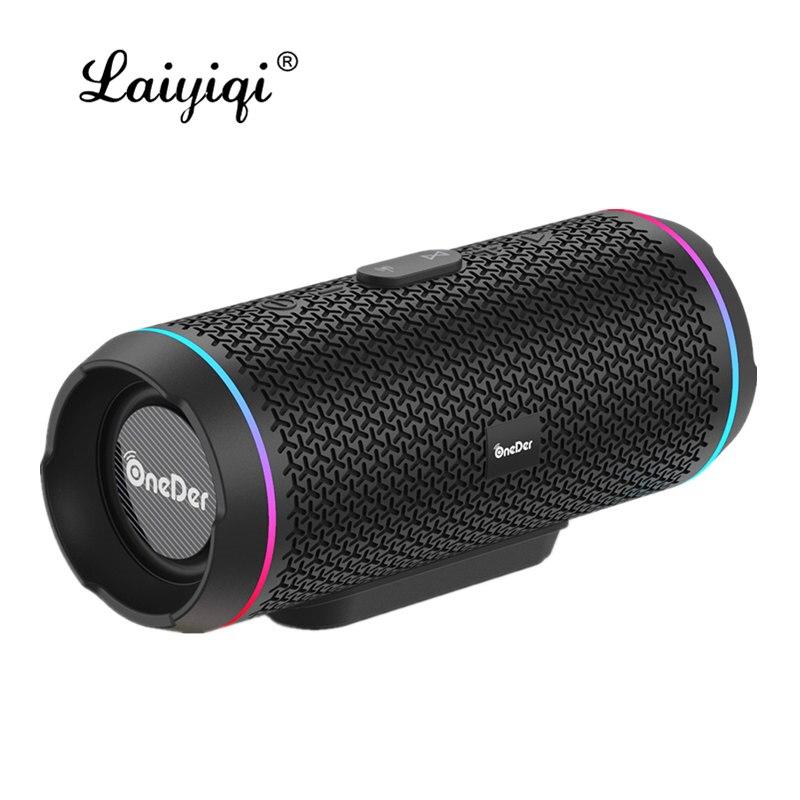 Laiyiqi TWS altavoz Bluetooth 5,0 LED altavoz de Radio FM doble altavoces...