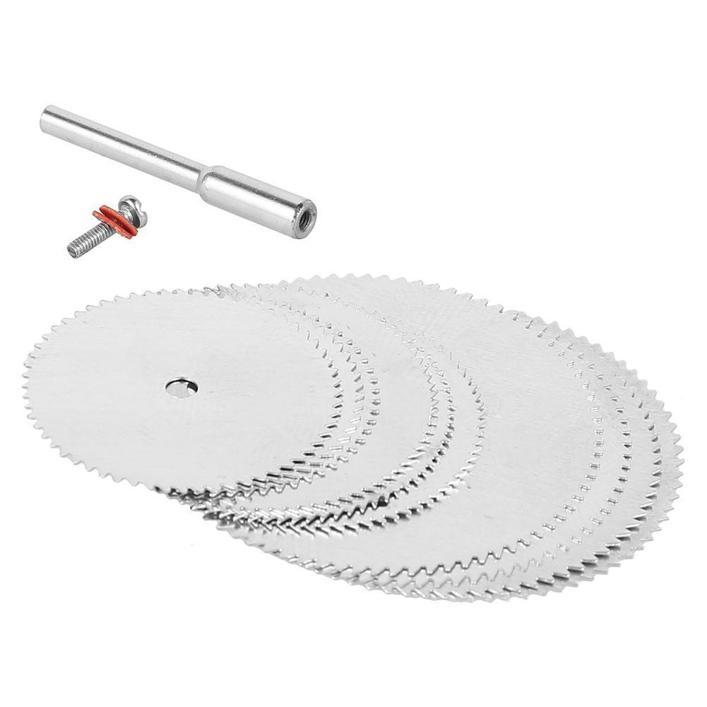 11pcs Mini Circular Saw Blade Electric Grinding Cutting Disc Rotary Tool For Metal Cutter Power Tool Wood Cutting mini handy craft metal saw tools modeling tool wear resistant for trimming cutting ja55