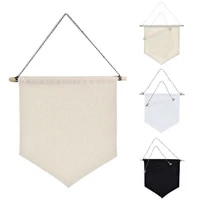 nordic blank cotton brooch pin badge holder hanging wall display banner flag for living room decoration