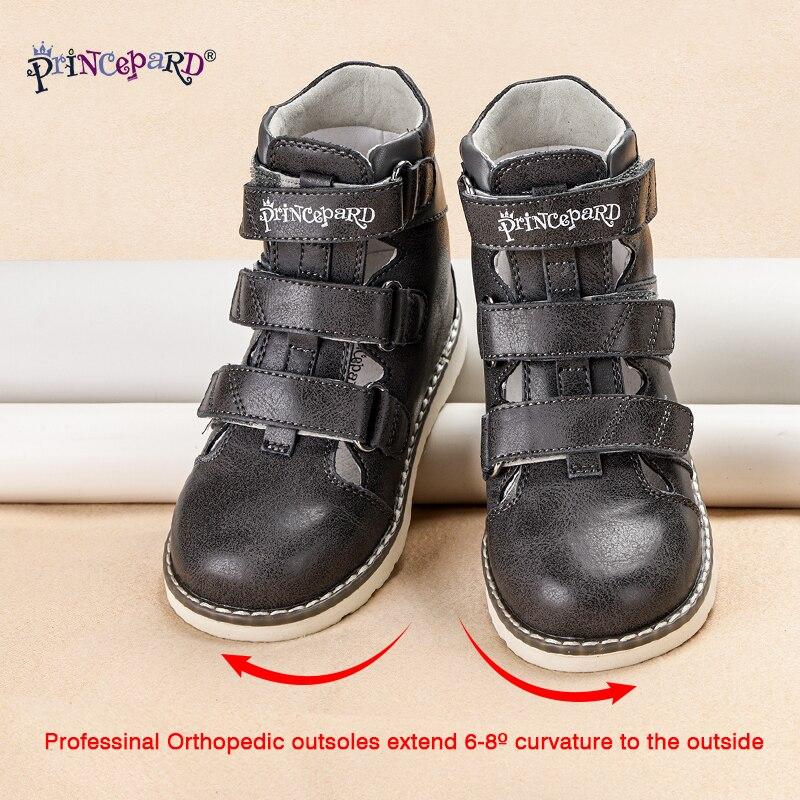 Princepard Kids Shoes 2020 New Summer Orthopedic  Shoes Children's Sandals for Toddler Boys Girls Leather Sandals Shoes 19-37 enlarge