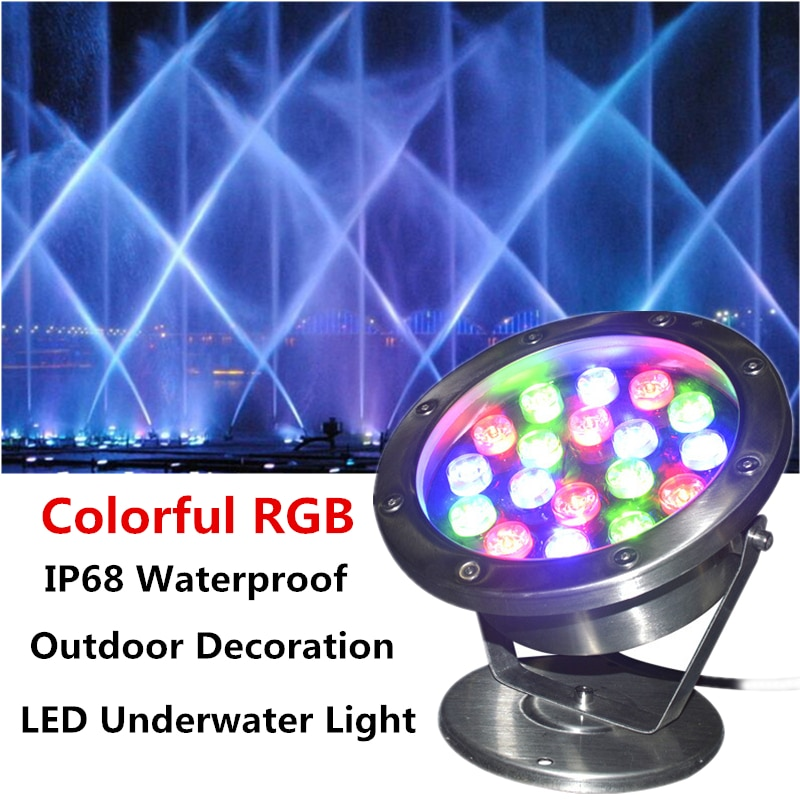 Pool LED Rgb Colorful Underwater Light 15W 18w 12v 24v IP68 Lamps  Pool Lights Underwater Dc Garden Lights Fountain Fish Tank enlarge