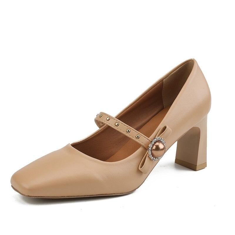 Zapatos De tacón alto Beige para mujer, Zapatos De fiesta concisos, Zapatos...