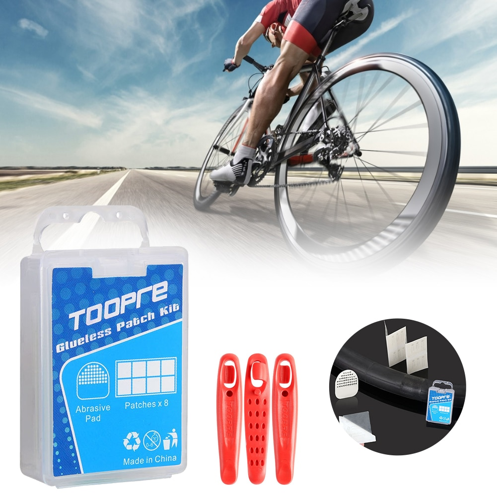 8pcs Bike Inner Tire Patches Repair Tool Kits With Glue-free Tire Patches and Metal Rasp For Cycling MTB Bike Inner Tire usa canada drop shipping eunorau awd 48v250w 350w front and rear motor electric fat tire bike snow bike with 26x4 0 tire