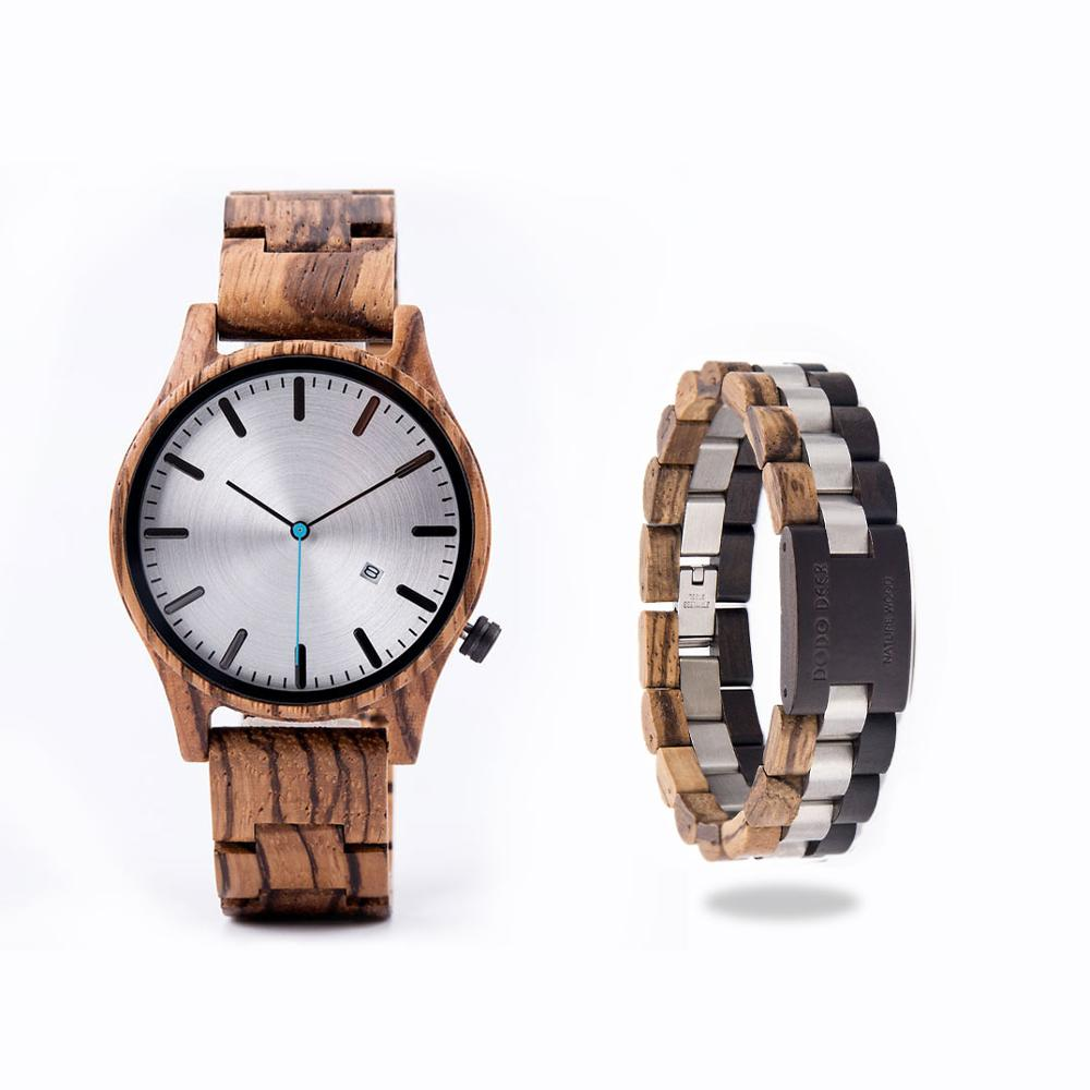 DODO DEER Watch Men Japan Quartz Zebra Wood Watches Male Simple reloj hombre Calendar Date Display Dropshipping  OEM B09