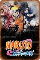 Naruto Shippuden     Plaque murale retro en etain  Plaque murale personnalisee en metal  affiche artistique  decor de Bar  Pub  diner  cafe  maison  Garage