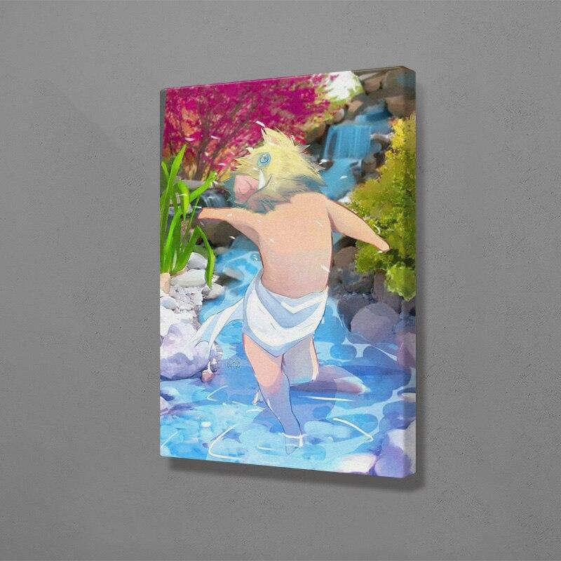 Inosuke hashibira kimetsu não yaiba anime arte da parede decoração da lona poster impressões para sala de estar decoração do quarto casa pintura