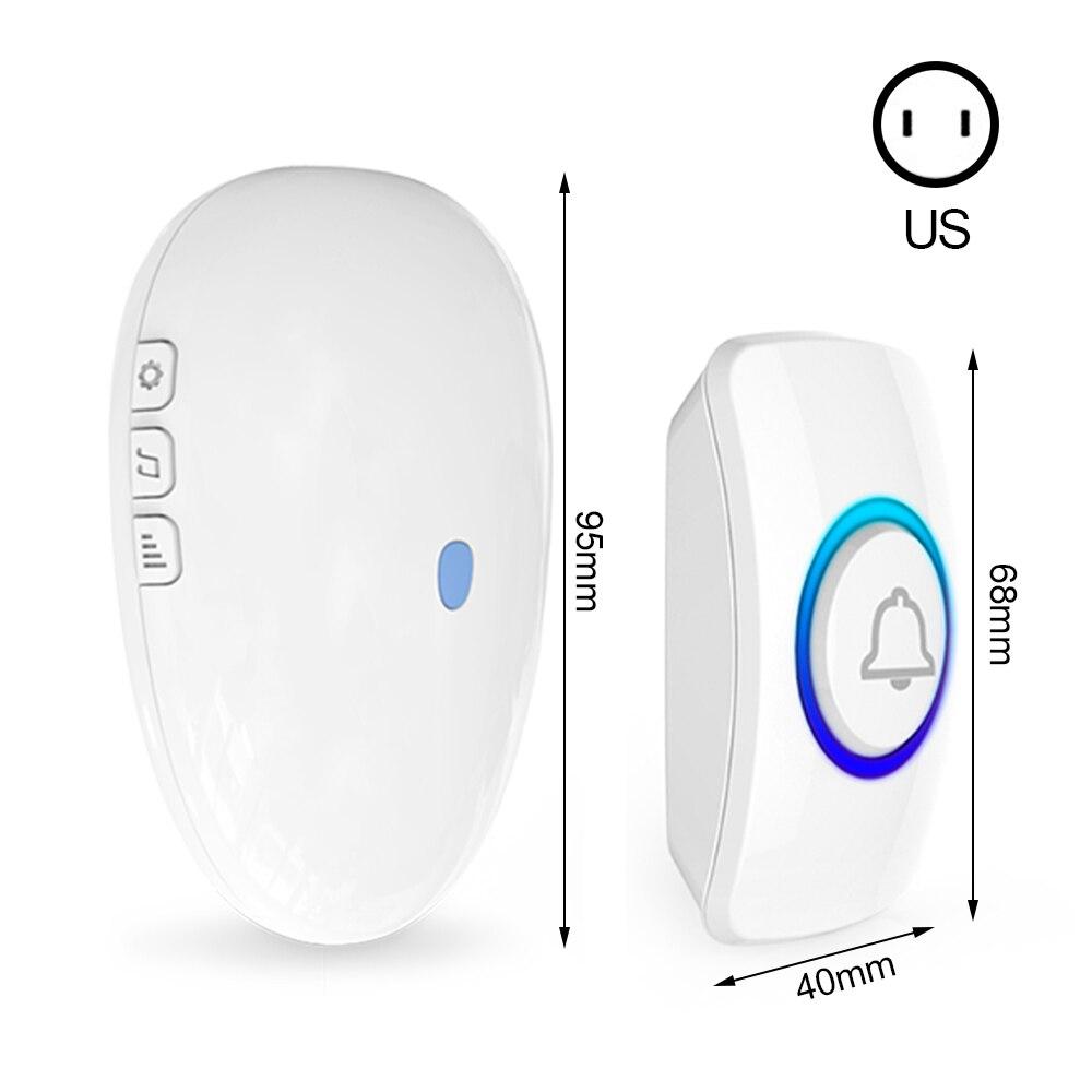 Wireless Doorbell 433Mhz Home Welcome Smart Doorbell Remote EU  US Plug Smart Door Bell 57 Melodies LED Flash Home Door Chimes enlarge