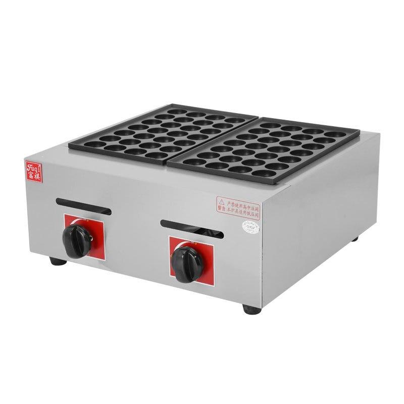 2 placas de gás gpl 56 buracos 40mm takoyaki fabricante japonês polvo peixe bola cozimento máquina takoyaki forno