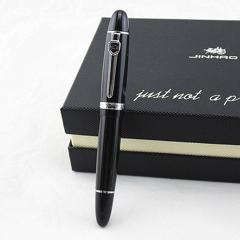 Jinhao 159 pluma de bola de rodillo de Metal de lujo bolígrafo de bola con 0,7mm pluma de punta de bola de recarga de tinta negra bolígrafo de firma regalo de Navidad