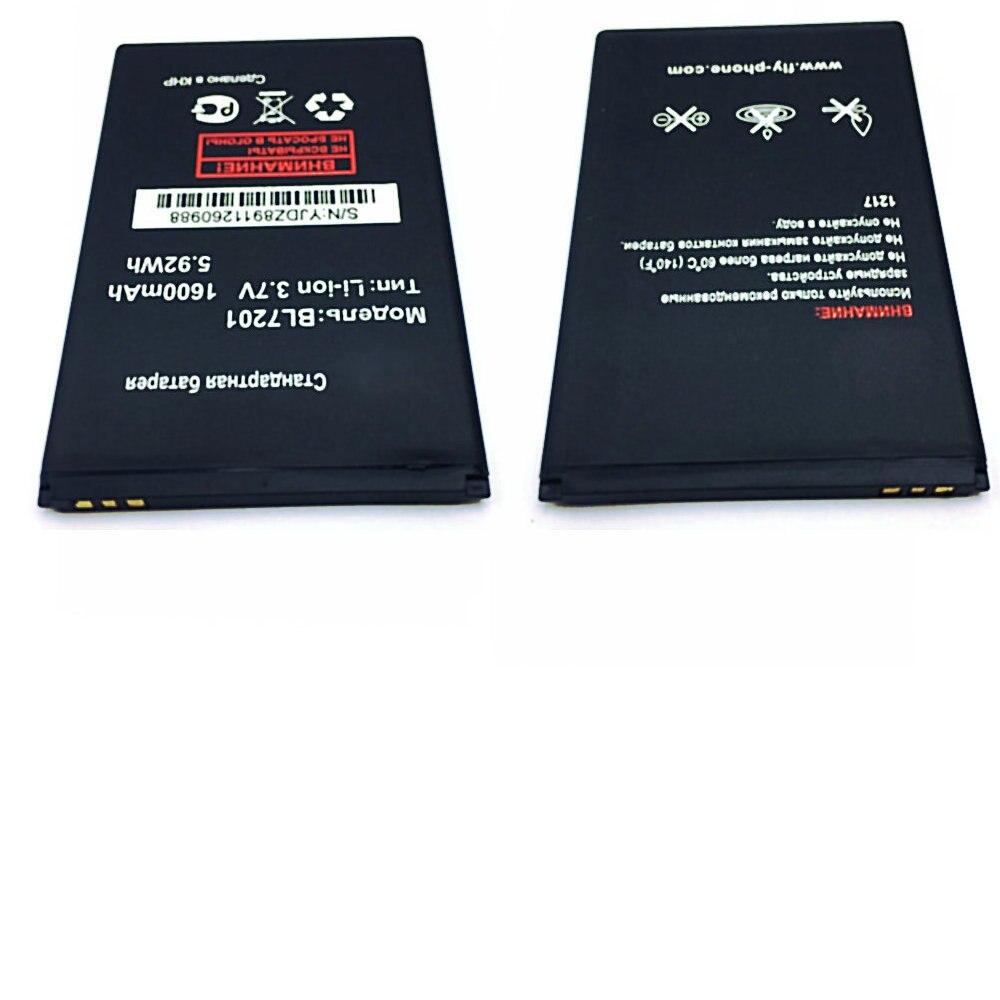 Batería de repuesto de tamaño Original 1600mah 3,7 v para BL7201 FLY IQ445 baterías de teléfonos móviles