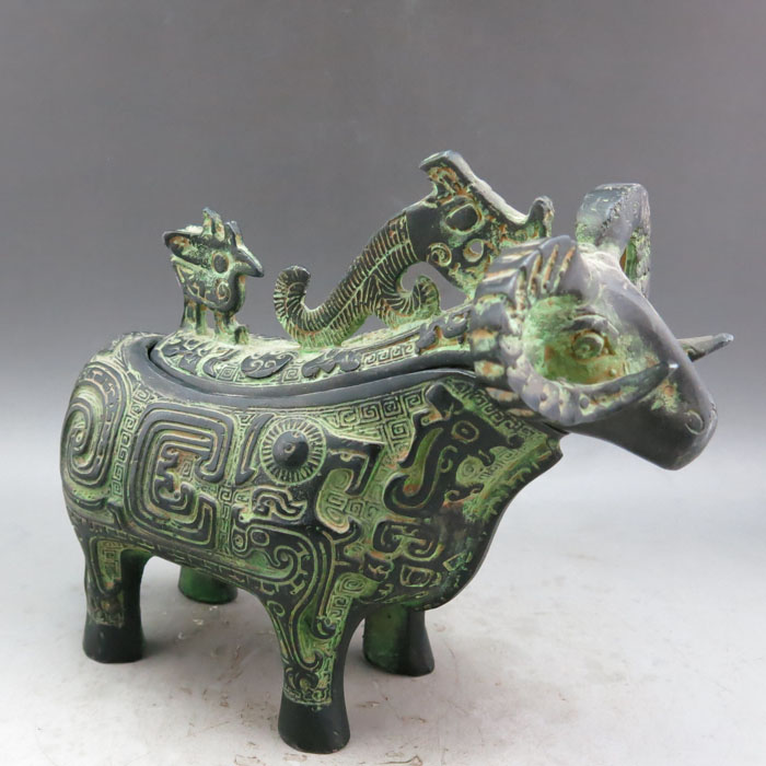 Bronce Antiguo chino, cabras, copas de vino, botellas de vino, regalos de estilo Khan, regalos artesanales