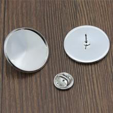 10 ensembles ajustement 12mm 14mm 16mm 18mm 20mm 25mm cuivre matériel broche Base bouton de manchette blanc entretoise paramètres cravate broches