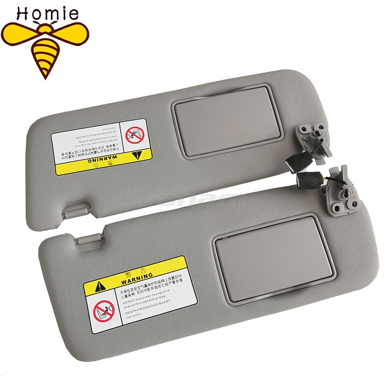 For Hyundai 2005 2006 2007 2008 2009 Sonata Nf Nfc Sun Visor Sunshade Assembly Gray Cosmetic Mirror 852010R300X6 852020R300X6