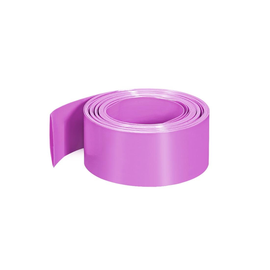 Uxcell-Tube thermorétractable rose   29.5mm de largeur plate, pour simple 18650 10m