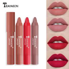 12 Color Sexy Red Lipstick Pencil Matte Lipsticks Pencil Pen Makeup Lip Glaze Makeup Cosmetic TSLM1