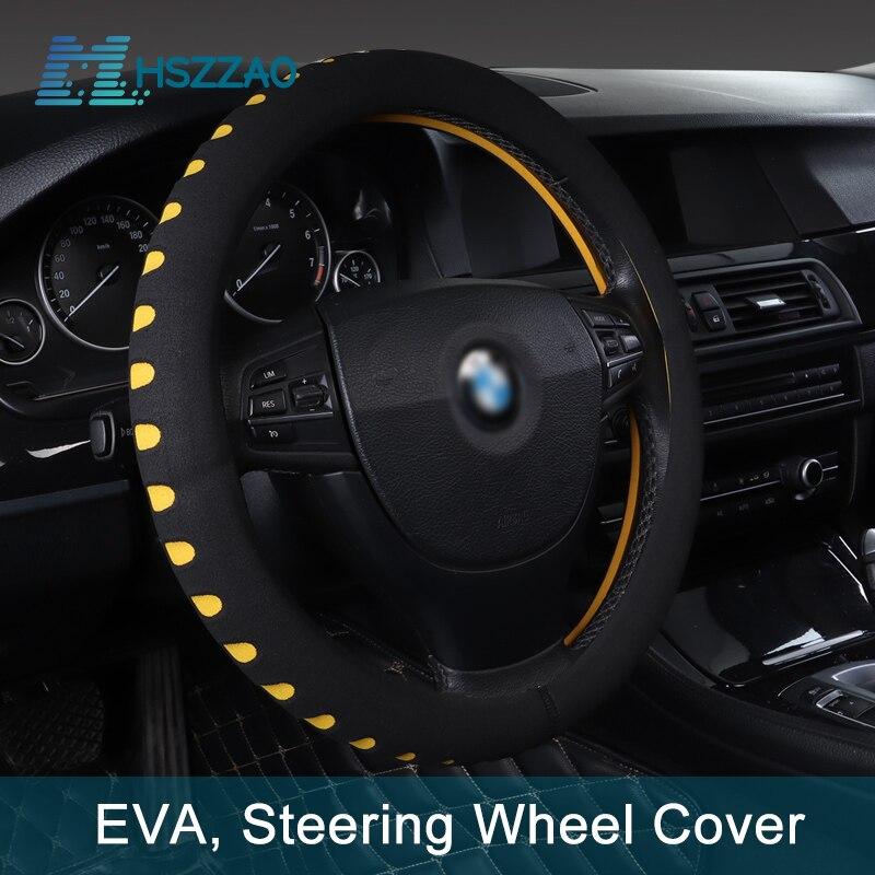 EVA de 38cm/15in protector para volante de coche antideslizante fundas de volante de coche para la mayoría de los coches SUV