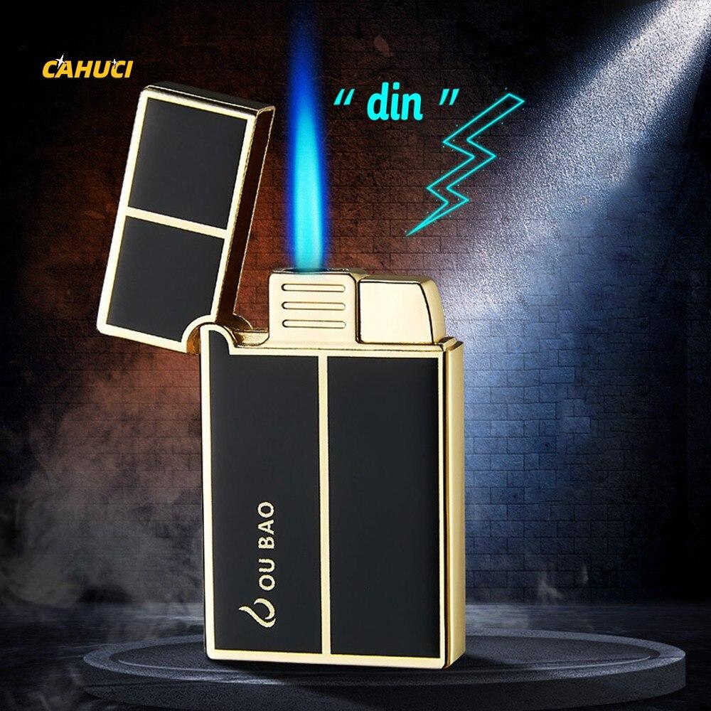 Metal Torch Gas Lighters windproof Lighter Cigar Lighters Spray Gun Portable Jet Lighter Kitchen Outdoor Cigarette Accessories недорого