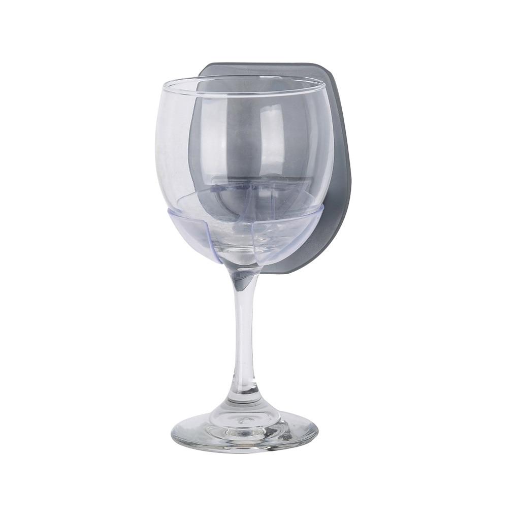 #20 soporte de cristal de vino de plástico para la ducha de baño soporte de cristal de vino tinto estante fuerte estante de cocina colgante Dropshipping