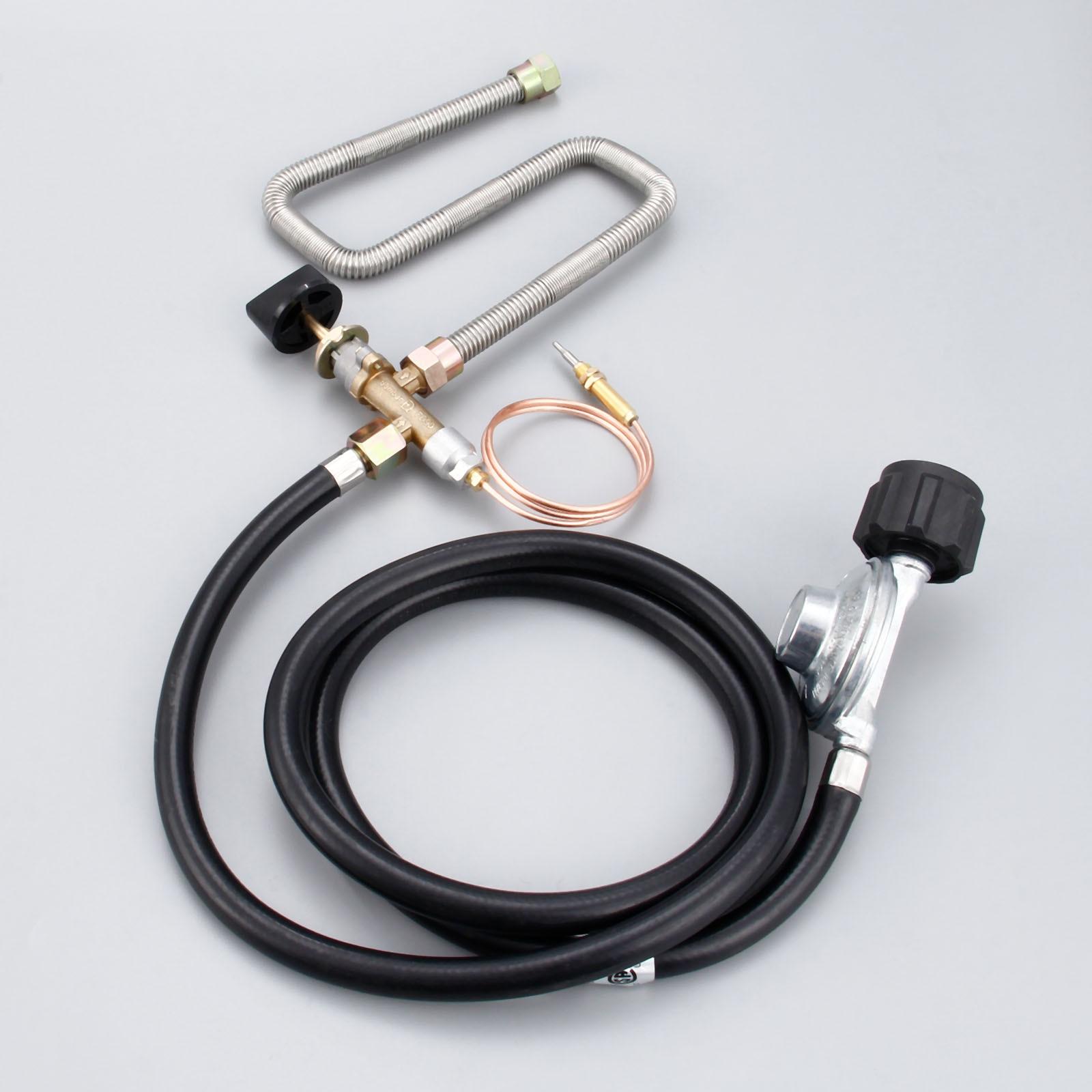 البروبان حفرة معدنية للحريق نظام التحكم صمام عدة أجزاء الموقد منظم الغاز صمام مع خرطوم 600 مللي متر الحرارية العالمي M8